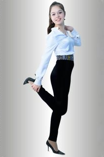 Smart Office Pants in Black with Embroidered Waistband