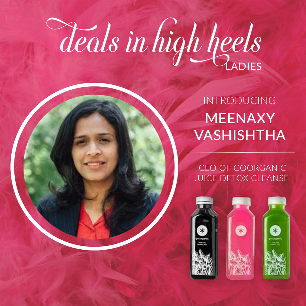 After feeling down in her health and overweight, Meenaxy discovered juice cleanses. She is the founder of GoOrganic, a line of cold-pressed juices and energy boosting cleanses. Every product we make  blends cutting-edge nutrition with healing traditional medicine    to offer you deeply healing cleanses and edibles that taste as delicious as they are effective.   GoOrganic is offering 20% OFF discount for the members. Visit their website at    www.goorganic.me    or email them at    helpdesk@goorganic.me   .