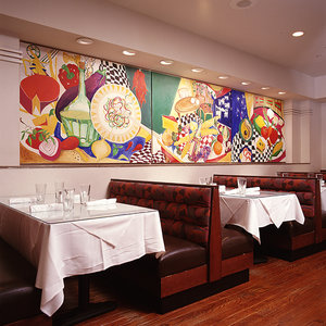Mural at Tom Tom Restaurant by Leigh