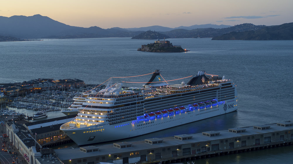 Recent aerial project with MSC Cruises