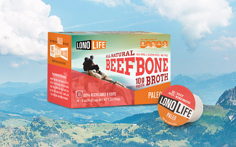 LonoLife brings authenticity to the new idea of delivering bone broth in familiar K-cups with an active and aspirational point-of-view.