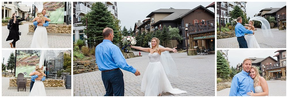 The wind was really this bad… we almost lost the veil! But, we didn't let it distract us from the super sweet, unplanned first look with Kayla's dad. Loved all the raw emotion!
