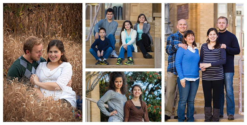sweet family collage outdoors in Lawton with Buzy Bee Photography