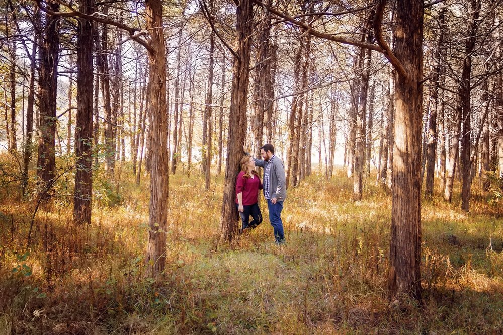 Couple in a sunlit forest.jpg