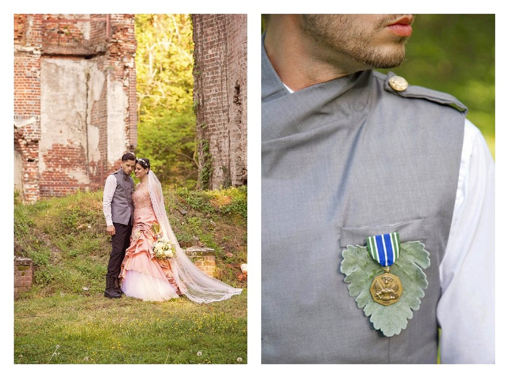 Modern Civil War Themed wedding couple.jpg