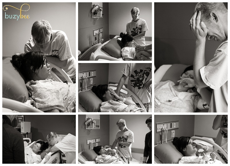 Collage of Labor in Birth Session , Norfolk Virginia