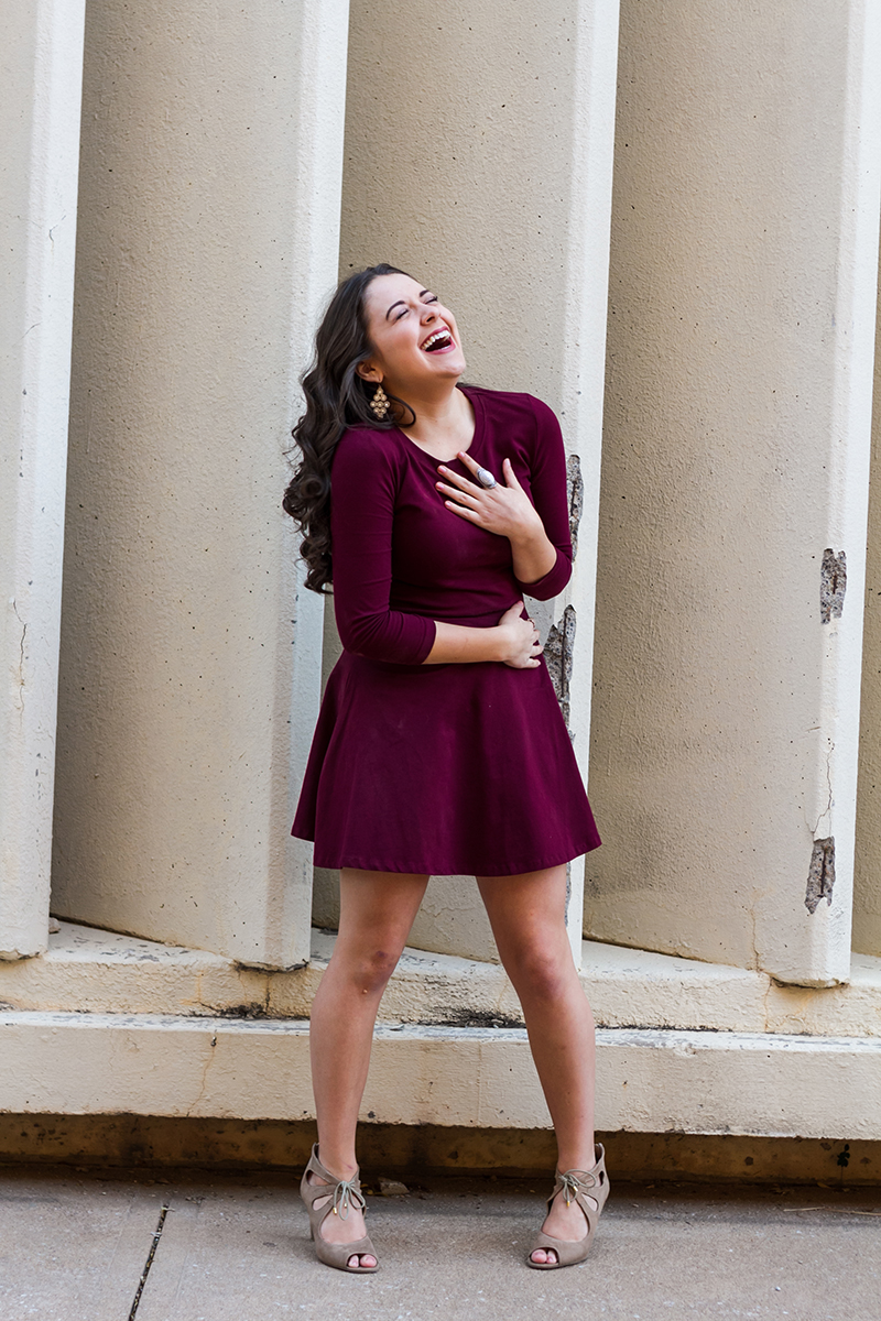 Senior Girl in Red Dress Laughing.jpg