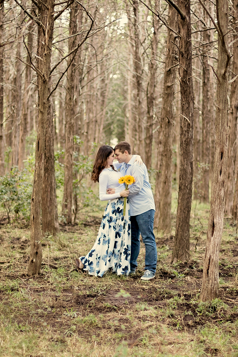 Wildflower Couple in Forest Engagment Session .jpg