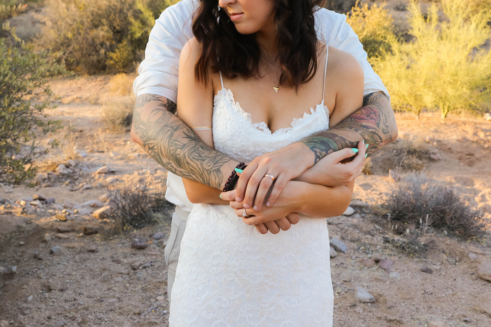 Bohemian Desert Bridal Couple Tattoos and Lace.jpg