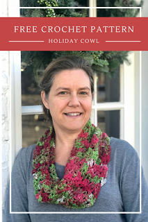 Check out the beautiful cowl she made with one skein of my single ply worsted weight yarn!  Click the image for her free pattern