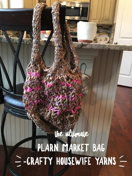 click here for this pattern and mini course on plarn and the kitchener stitch strap bind off