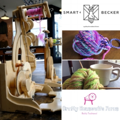 CHY will also have pop up shop featuring news yarns, fibers and spinning demos on spinolution wheels the 3rd Saturday of the month at the Smart & Becker Gallery and makers space downtown Knoxville! Click the picture for more info.