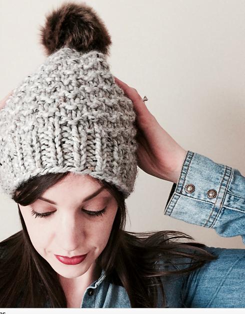 chunky yarn hat