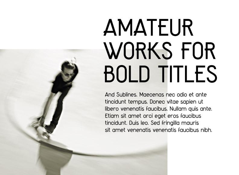Amateur Font Type Design
