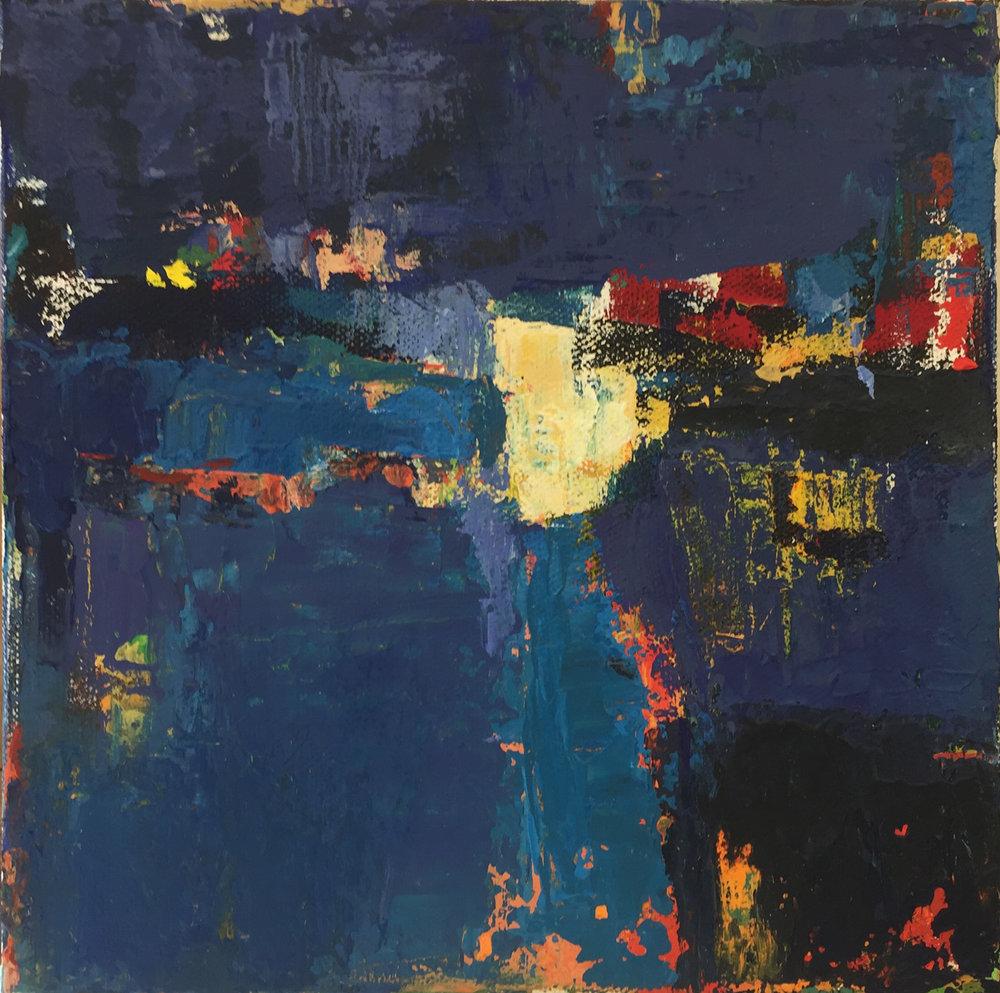 "Winter, Oil on Canvas, 8""x8"", $275"