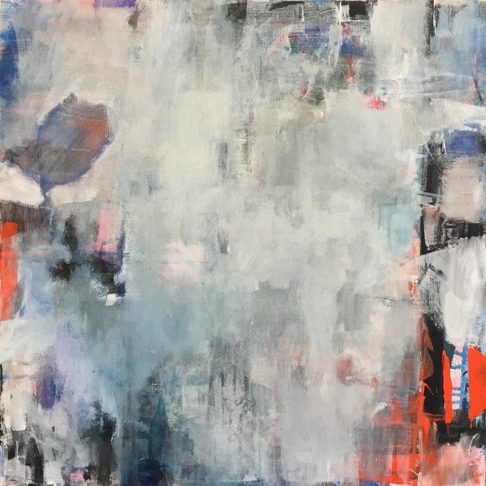 "Smoke, Oil on Canvas, 24""x 24"", $850"