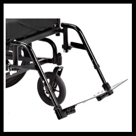 Swing Away Footrests with angle adjustable footplates