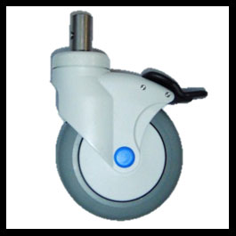 Caster 5 Directional Lock Stainless Steel