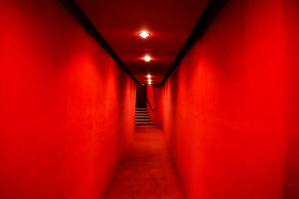 It takes guts to go down this velvet red corridor, Gaumont cinema, Paris