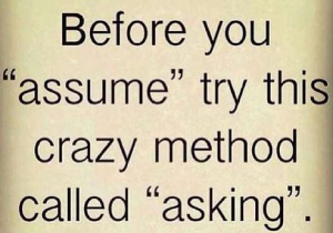 Making Assumptions