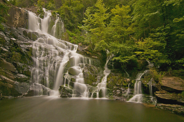 The waterfalls at the Wilds are a hiking destination.