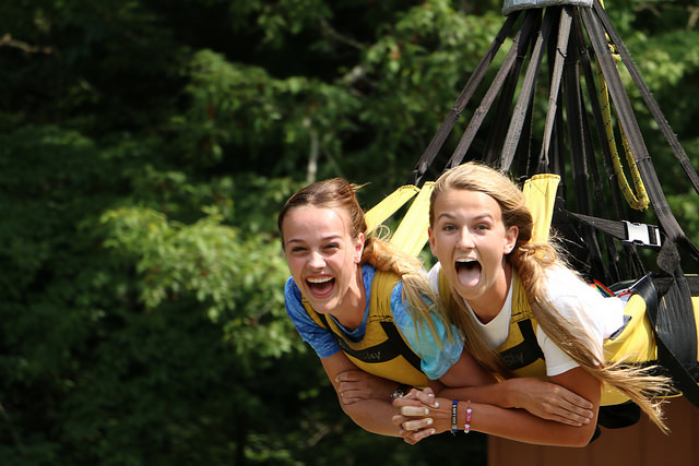 Join up with a friend and conquer the 65-foot high Giant Swing.