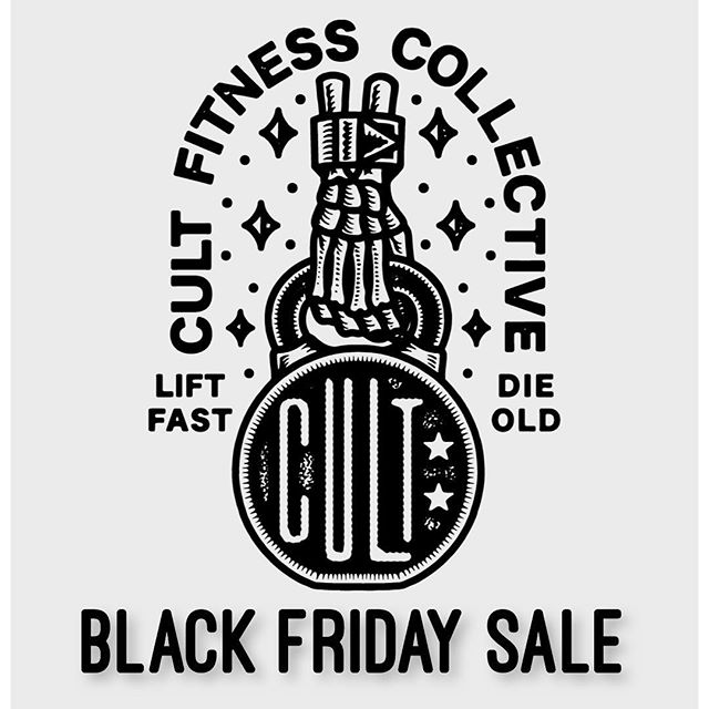 20% OFF for Black Friday all week. Use code: BLACKFRIDAY at checkout. Join us. #cultstatus.