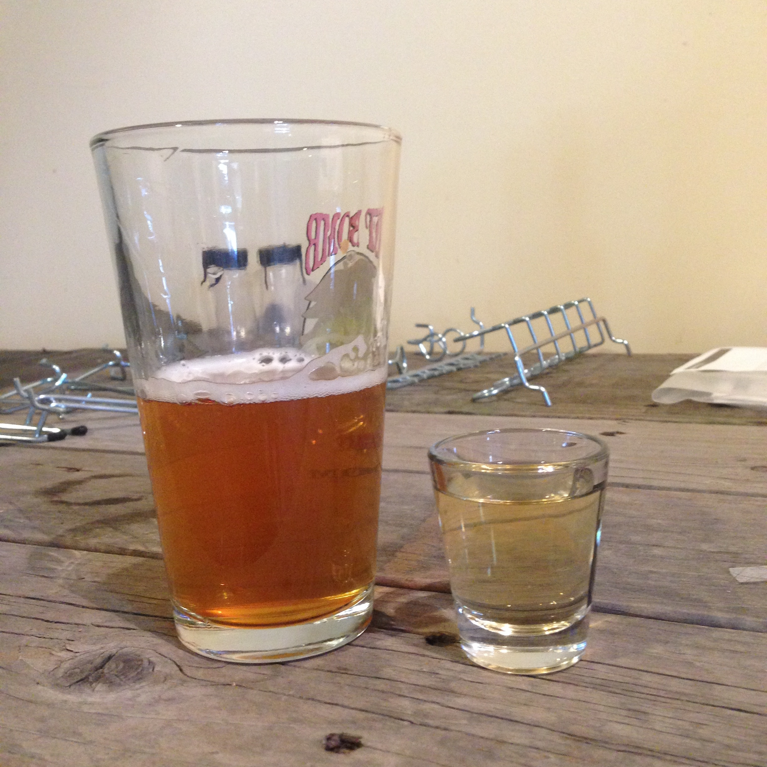 Grandma's Blonde Ale and an El Colorado Shot