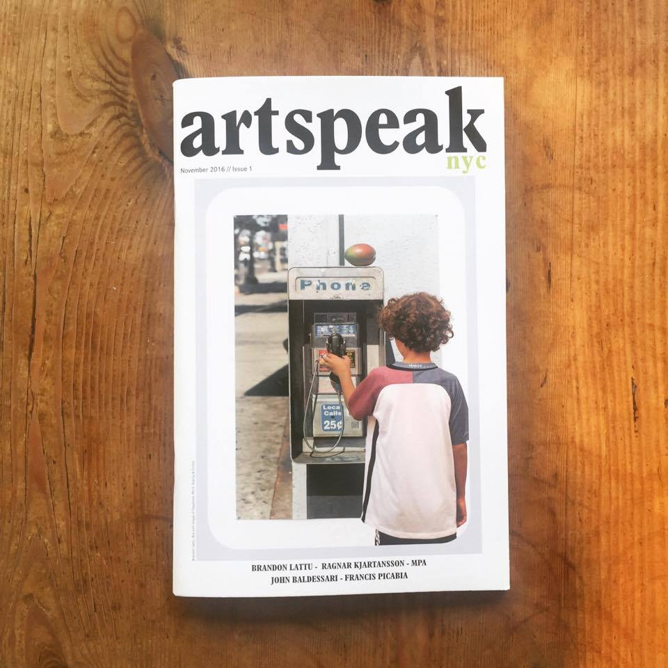 On the Cover: Photograph by Brandon Lattu, Boy with Image of Payphone, 2016 Koenig & Clinton