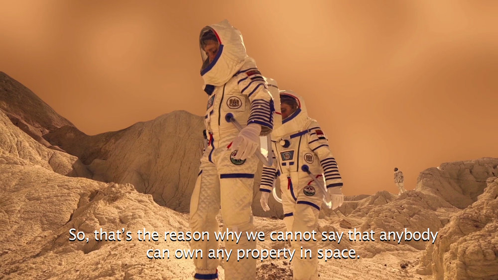 Halil Altindere Journey to Mars, 2016 360° VR video 5 minutes, 10 seconds Courtesy of the artist and Pilot Gallery (Istanbul) and Andrew Kreps Gallery, New York