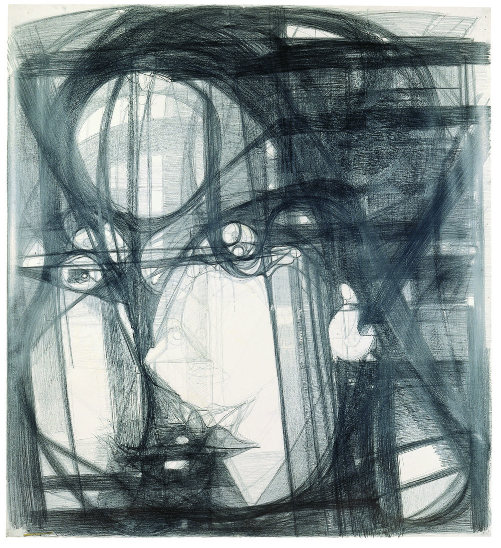 Marisa Merz, Untitled, 1993–96 Graphite on paper Kunstmuseum Winterthur Purchased with funds from the Lottery Fund of the Canton of Zurich, 1999 © Schweizerisches Institut fur Kunstwissenschaft, Zurich, Jean-Pierre Kuhn