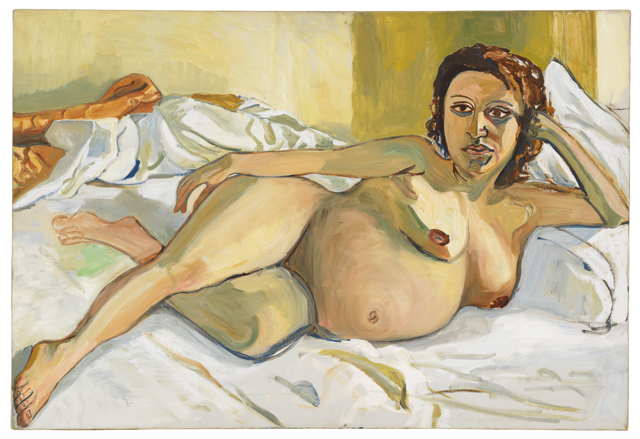 Alice Neel, Pregnant Maria, 1964 Oil on canvas Private Collection. © The Estate of Alice Neel. Courtesy David Zwirner, New York/London and Victoria Miro, London.