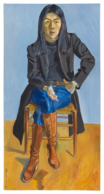 Alice Neel, Ron Kajiwara,   © The Estate of Alice Neel. Courtesy David Zwirner, New York/London, Victoria Miro, London, and Xavier Hufkens, Brussels.