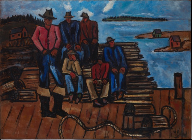 Marsden Hartley (American, 1877-1943) Lobster Fishermen 1940–41 Oil on hardboard (masonite) The Metropolitan Museum of Art, Arthur Hoppock Hearn Fund