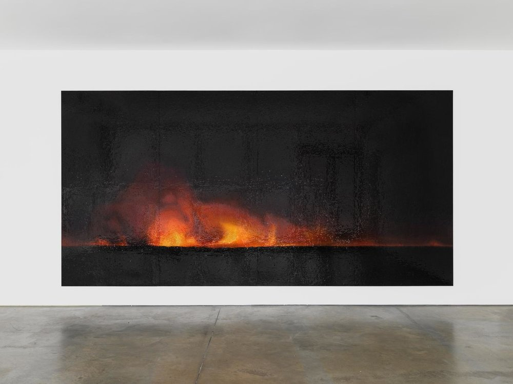 TERESITA FERNÁNDEZ  Fire (America) 5 , 2016 glazed ceramic 96 x 192 x 1.25 inches
