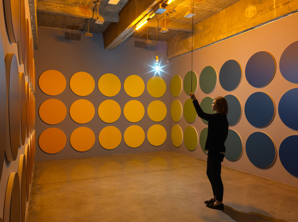 Olafur ELIASSON Installation view of The listening dimension, Tanya Bonakdar Gallery, New York, March 23–April 22,2017. Photo: Maris Hutchinson Courtesy of the artist and Tanya Bonakdar Gallery, New York