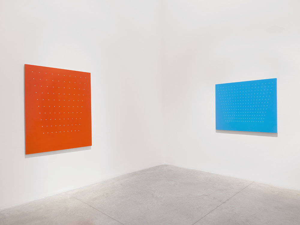 How Strange - Bright Red, Azure Blue, 2001 Oil on linen   Courtesy of Christopher Burke Studio