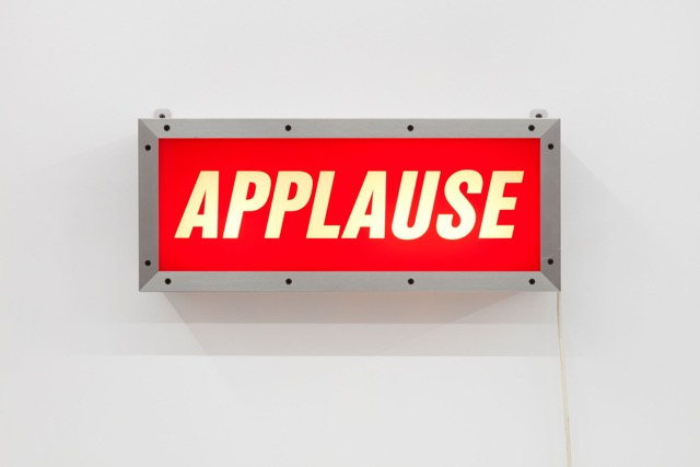 Jack Pierson, APPLAUSE, 1997 Aluminum and plexiglass lightbox Edition 35 of 35 © Jack Pierson; Courtesy of the artist, Cheim & Read, New York, and Luhring Augustine, New York.