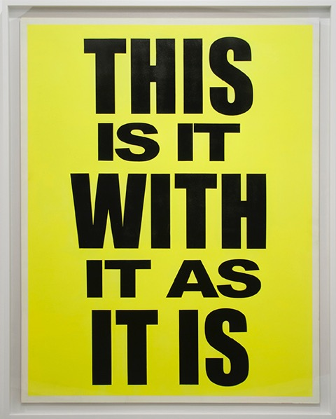 Eve Fowler, This Is It With It As It Is, 2012 Acrylic on wood panel Courtesy of Mier Gallery, Los Angeles