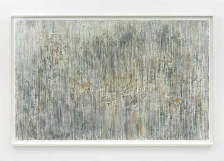 Untitled, 2017 Conté, charcoal, pastel, acrylic on mylar 60 x 96 inches 152.4 x 243.8 cm Framed: 64 1/2 x 100 1/2 inches 163.8 x 255.3 cm