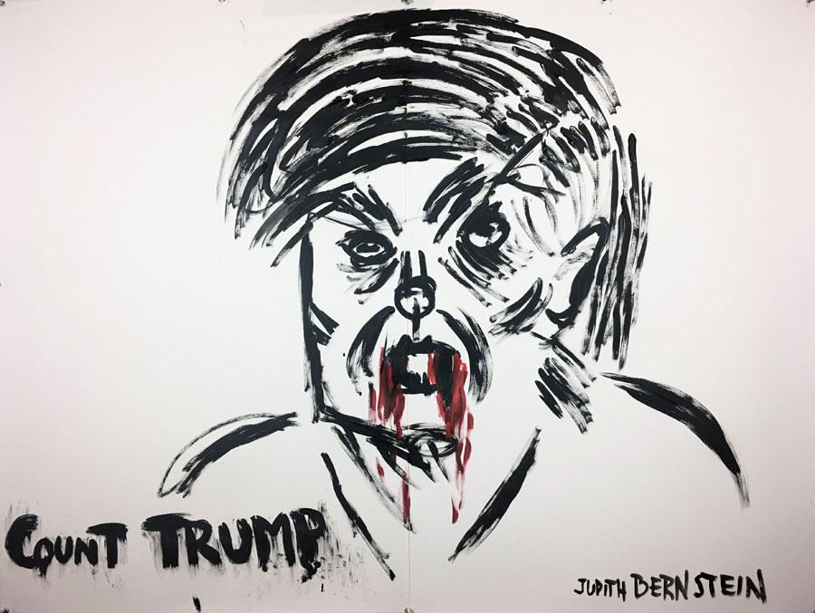 Judith Bernstein, Count Trump, 2017