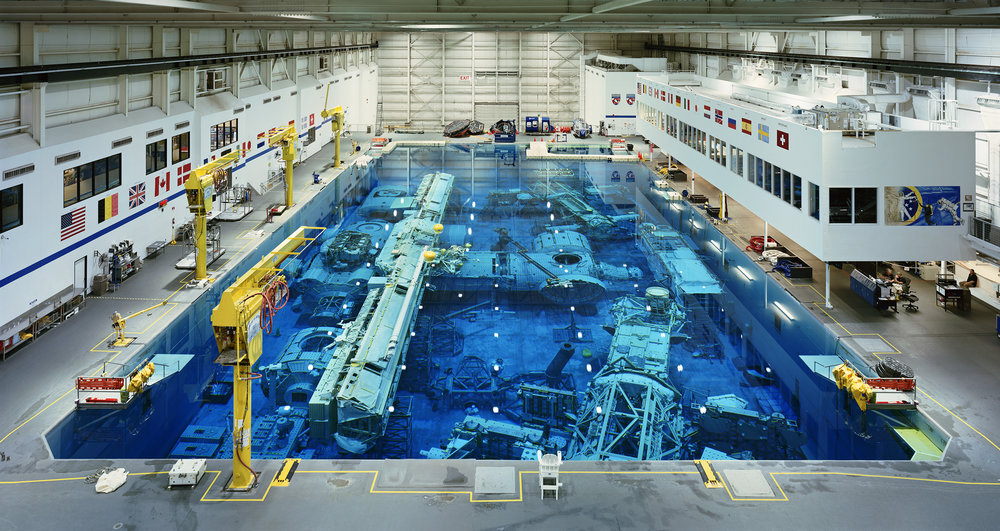 THOMAS STRUTH Neutral Buoyancy Lab, JSC, Houston, 2017 Chromogenic print Image: 79 1/2 x 149 7/8 in. (202 x 380.7 cm) Frame: 84 1/2 x 154 3/4 x 2 3/4 in. (214.6 x 393.1 x 7 cm) Edition of 6 (20397)
