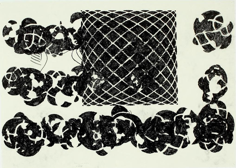 Terry Winters, 7-Fold Sequence, One, 2008. Graphite on paper, Courtesy of the Artist