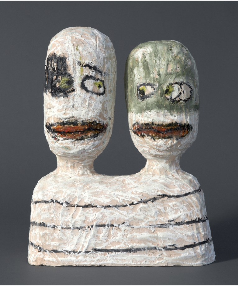 Another Marriage, clay , oil stick, 2015