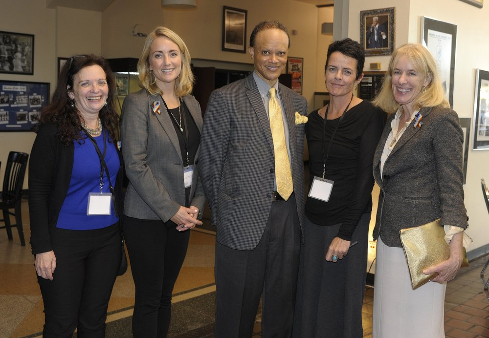 From left: Professor Miriam Marton, Professor Anna Carpenter, Hannibal B. Johnson, Professor Elizabeth McCormick, Dean Lyn Entzeroth