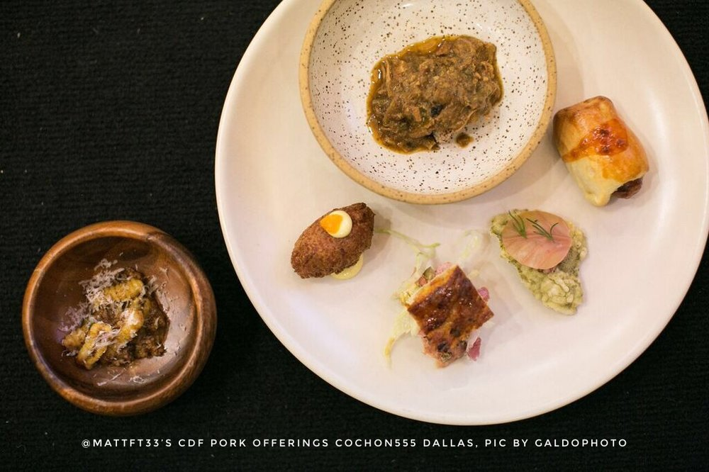 Chef Matt McCallister's dishes using CDF Pork Cochon555 Dallas by GALDOPHOTO.jpg