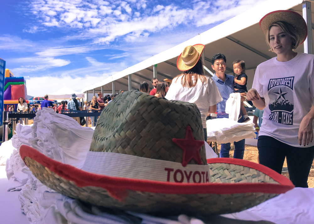 ToyotaFest - 9.30.17 - 20 Staff, 16 Screen Printing Stations, 5000 Shirts, 4 hours.