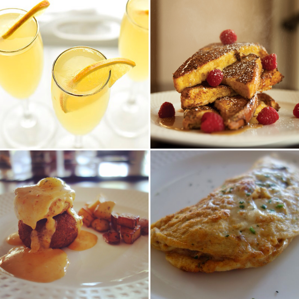 3-course special brunch menu w/ unlimited mimosas