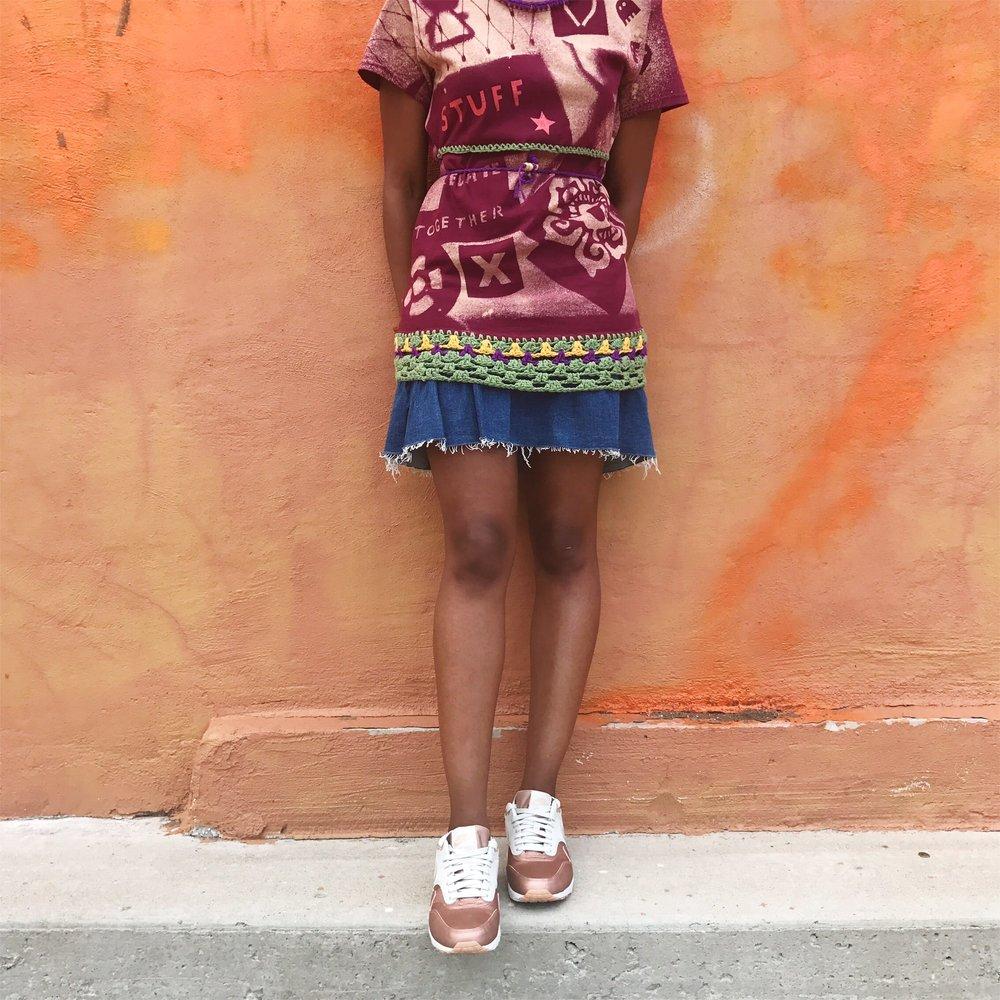 cocomocha milk moss top wearable art hm ruffle skirt arose gold air max 1