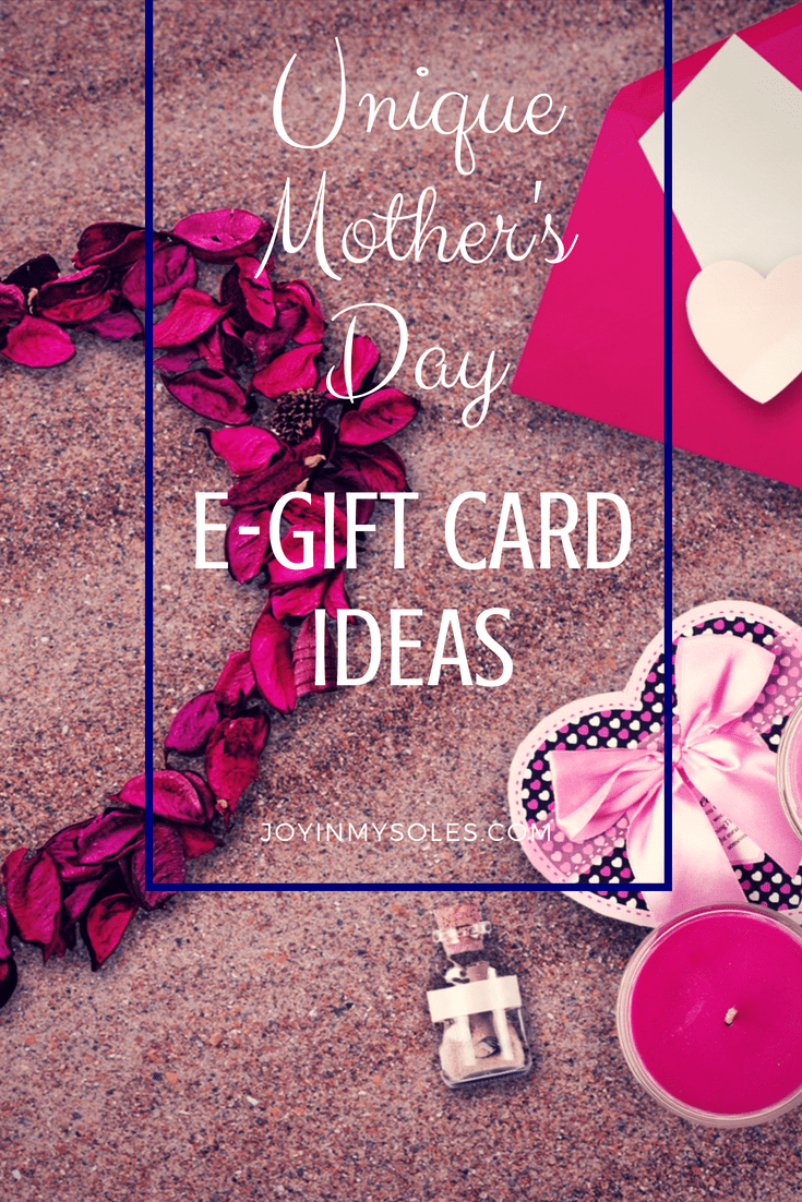 Unique Mothers Day E Gift Card Ideas